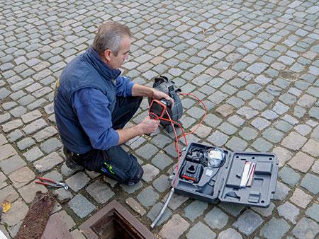 recherche des bouchons par détection caméra canalisations
