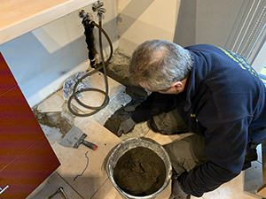 réparation canalisation dans sol